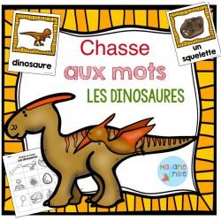 Dinosaures (Chasse aux mots)