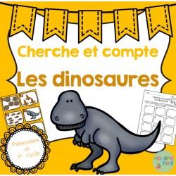 Dinosaures Cherche et compte