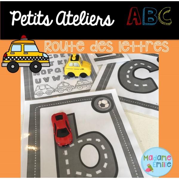 La route des lettres de l'alphabet (Atelier ABC)