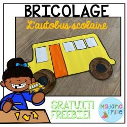 GRATUIT- Bricolage Autobus Scolaire