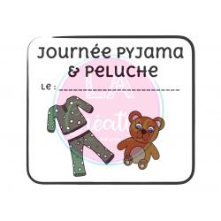 Affiche journée pyjama & peluche