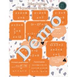 Affiche: résolution d'equations algébriques