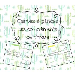 Les compléments de phrase - Cartes à pinces