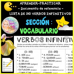 Verbos infinitivos -Documento de referencia-