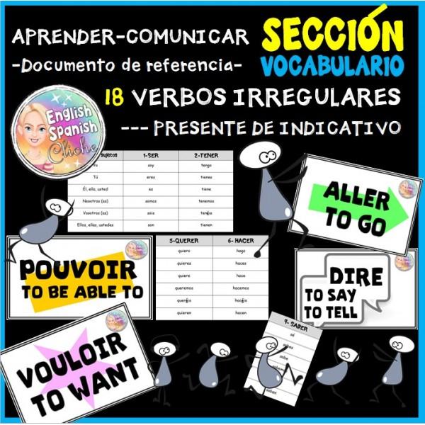 Lista de verbos irregulares (presente)