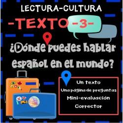 Lectura -3-: ¿Dónde puedes hablar español?