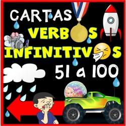 Verbos infinitivos - cartas de 51 a 100