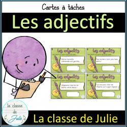 Les adjectifs - Cartes à tâches