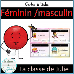 Féminin / masculin cartes à tâche