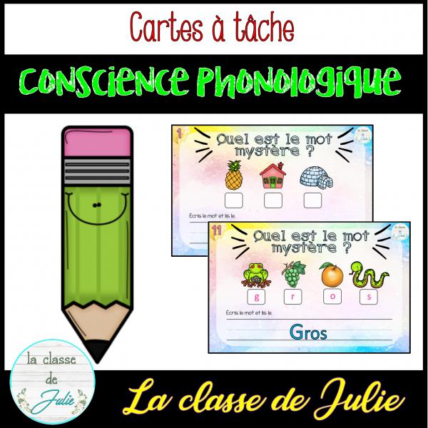 Conscience Phonologique - écriture / lecture