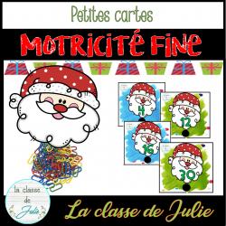Atelier de motricité fine et maths - Noël