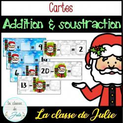 Atelier d'addition et soustraction - Noël