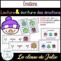 Lecture et écriture des émotions - Noël / hiver