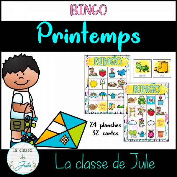 Bingo - vocabulaire du printemps