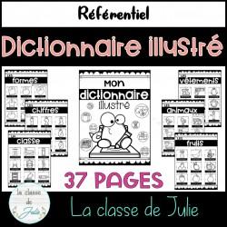 Dictionnaire illustré - noir et blanc