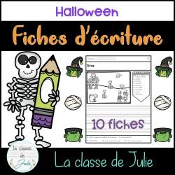 Fiches d'écriture - Halloween