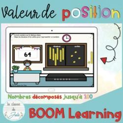 Cartes BOOM | valeur de position (100) | à l'école