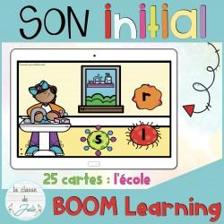 Cartes BOOM | Son initial - rentrée scolaire