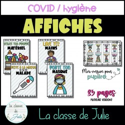 Affiches - COVID et hygiène à l'école