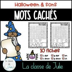 Mots cachés - Halloween et sons