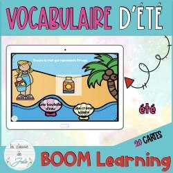 ☀️Cartes BOOM☀️ vocabulaire d'été