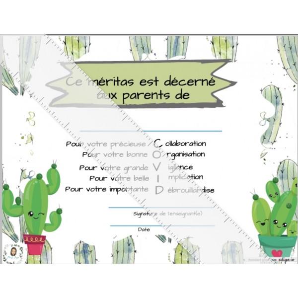 Méritas pour les élèves et les parents
