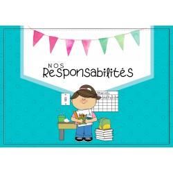 ✿ Tableau des reponsabilités ✿