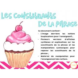 Le gâteau - Les constituants de la phrase
