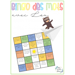 Activité - Bingo des mots avec Lou