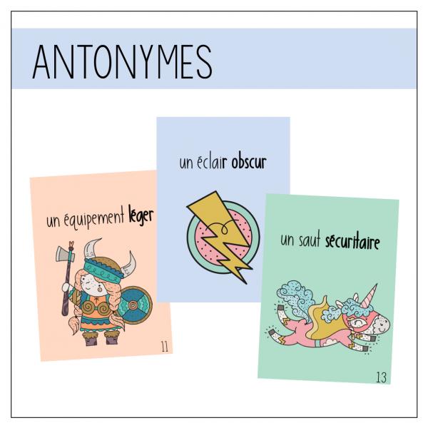Antonymes - Petits auteurs