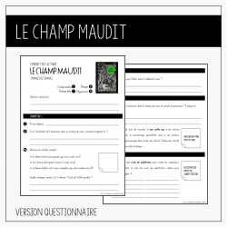 Carnet de lecture Le champ maudit - Petits auteurs