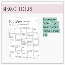 Bingo lecture - Petits auteurs