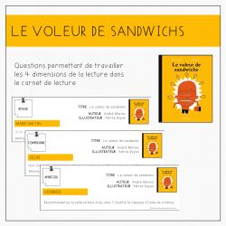 Carnet lecture - Le voleur de sandwichs