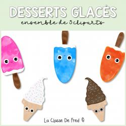 Desserts glacés - Cliparts