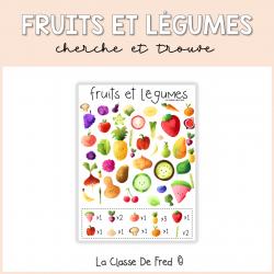 Les fruits et légumes - Cherche et trouve