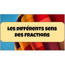 Les différentes représentations des fractions