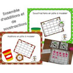 Additions et soustractions en pâte à modeler