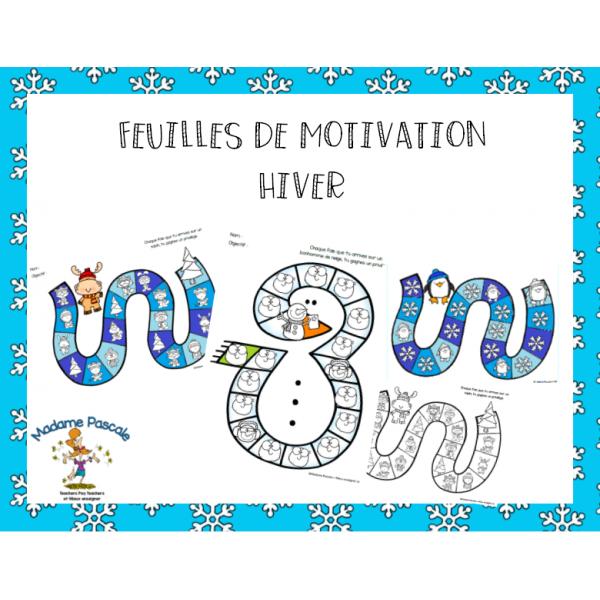 Feuilles de motivation - hiver