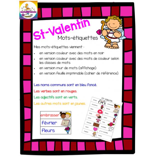Mots-étiquettes St-Valentin