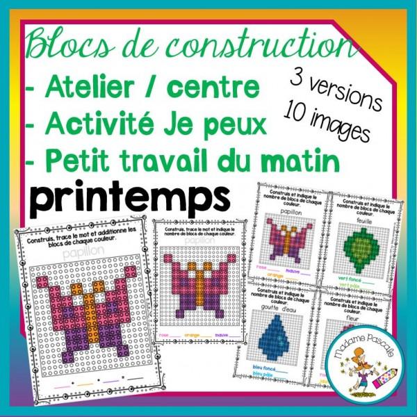 Atelier de blocs de construction - Printemps