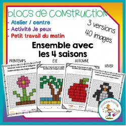 Ensemble d'ateliers - blocs de construction