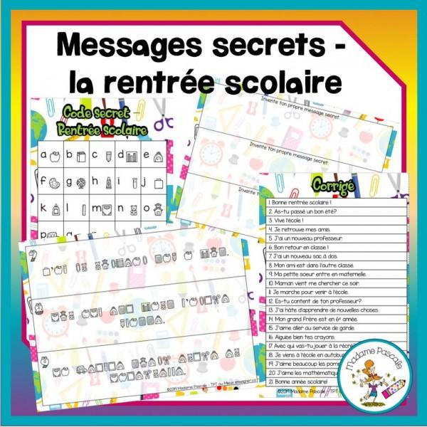 Messages secrets - rentrée scolaire