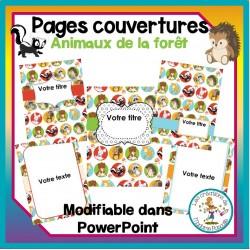 Pages couvertures - animaux de la forêt