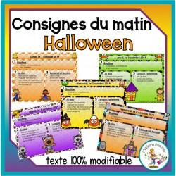 Consignes du matin - Halloween