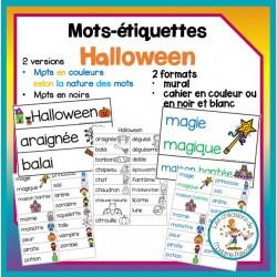 Mots-étiquettes - Halloween