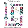 Feuilles de motivation - licorne
