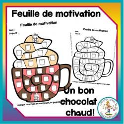 Feuille de motivation - chocolat chaud
