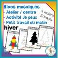 Atelier de blocs mosaïques - hiver