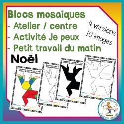 Atelier de blocs mosaïques - Noël