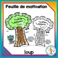 Feuille de motivation - loup